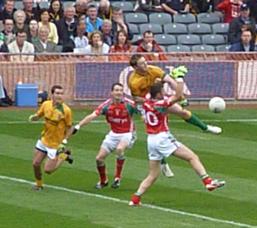 Meath v Mayo action shot