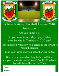 Mayo Gaa Match Promotion 2010