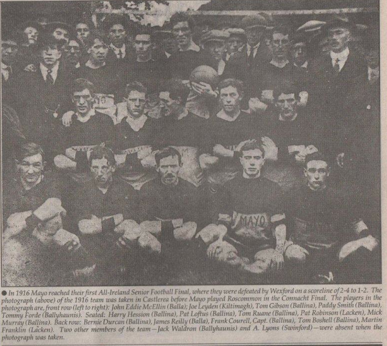 MAYO 1916 FOOTBALL TEAM
