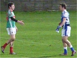 Laois v Mayo post-match handshakes