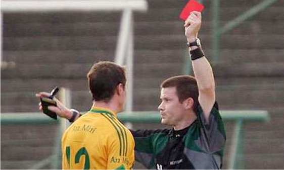 Padraig Hughes sending off Meath player- he can't be all bad then