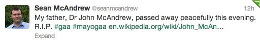 Sean McAndrew tweet
