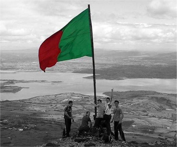 Mayo flag on Nephin
