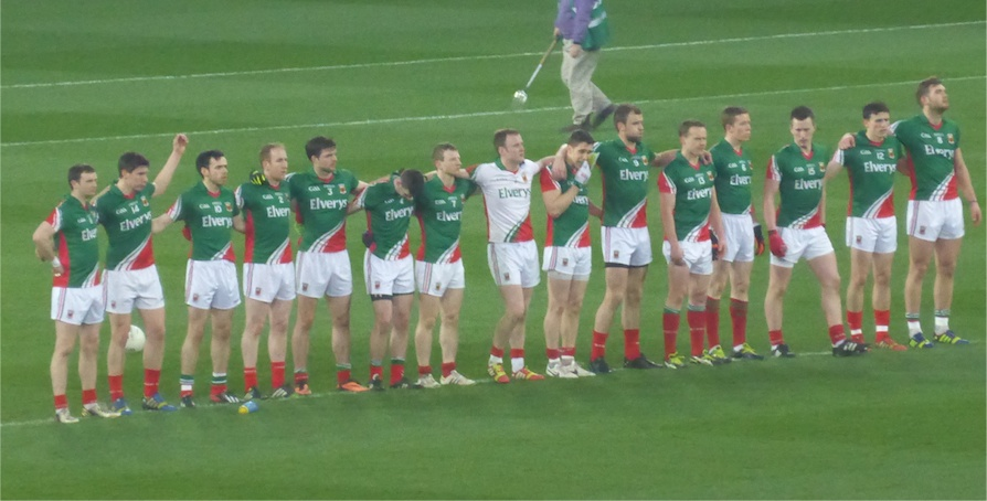 Mayo team v Dublin March 2014