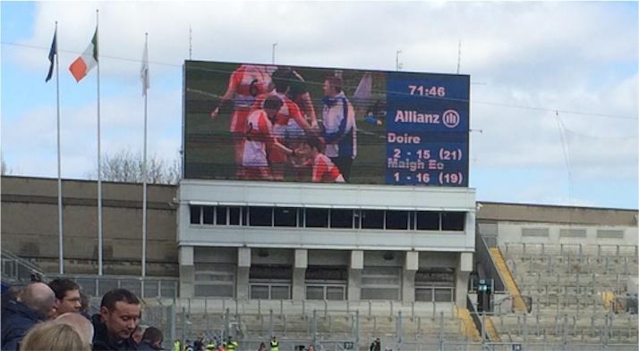 Mayo Derry final score