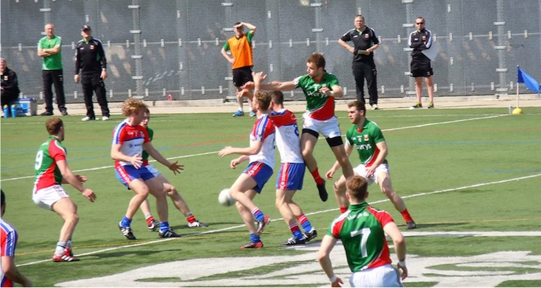 Action shot Gaelic Park
