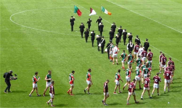 Pre-match parade