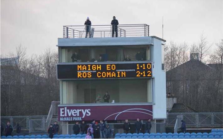Mayo Ros final score