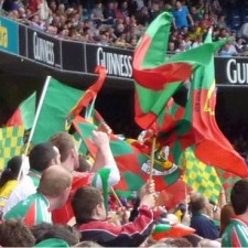 Mayo and Kerry flags