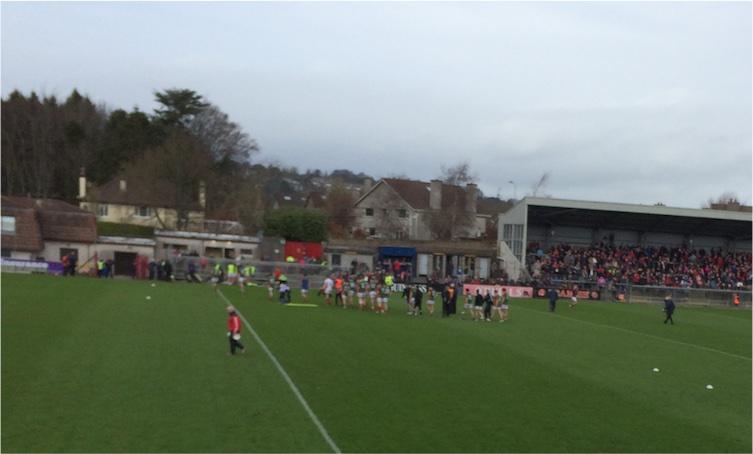Mayo team leaving pitch v Cork