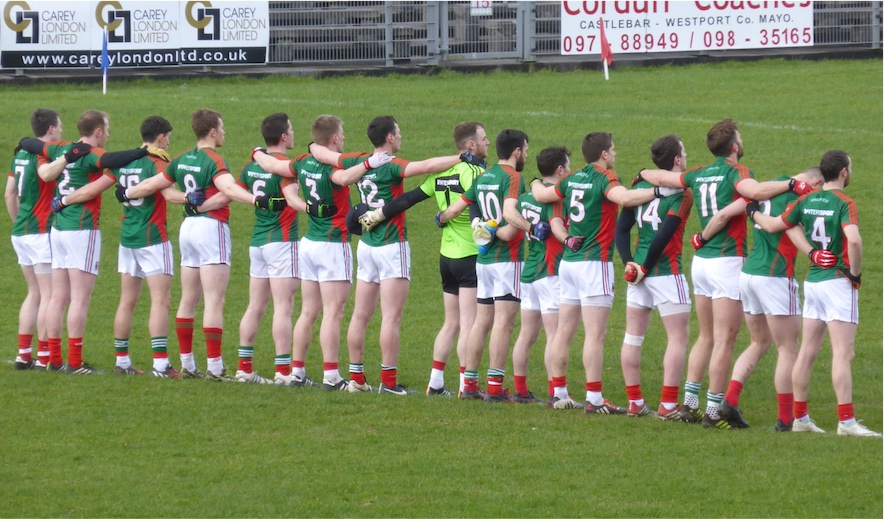 Team before start of Monaghan match