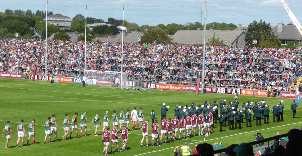 Galway Mayo pre-match parade 2015