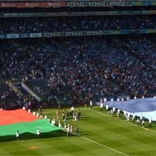Mayo Dublin flags at Croke Park AIF 2013