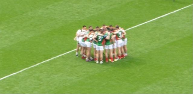 Pre-match huddle 2015 AISF
