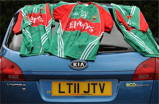 Mayo jersies UK reg car
