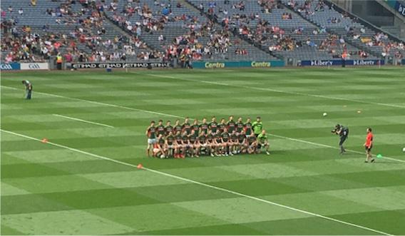 Mayo team v Tyrone